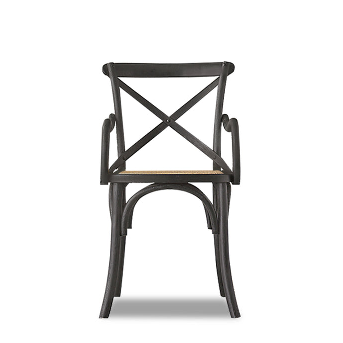MADELYN CANE SEAT CHAIR-BLACK