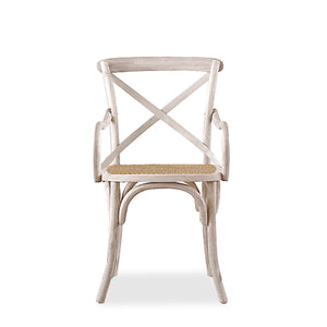 MADELYN CANE CHAIR - WHITE WASH