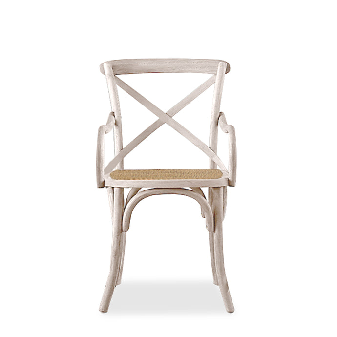MADELYN CANE SEAT CHAIR-WHITE WASH