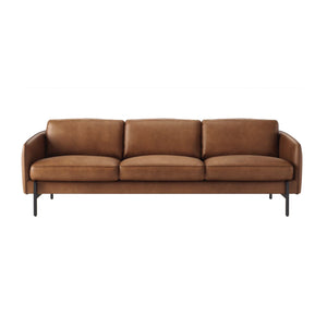 MILAN LEATHER SOFA IN BROWN - ARRIVING FALL 2021