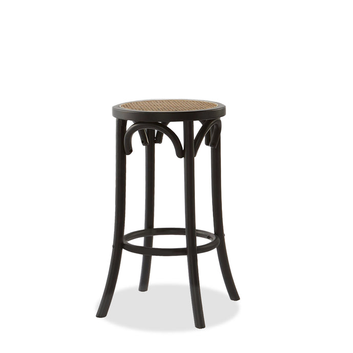REGAL RATTAN BARSTOOL - BLACK