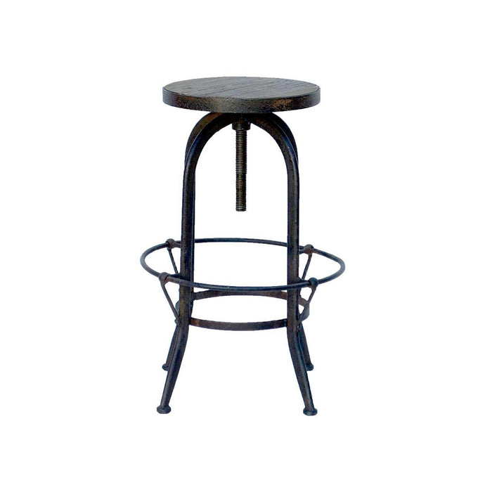 RECLAIMED SWIVEL STOOL