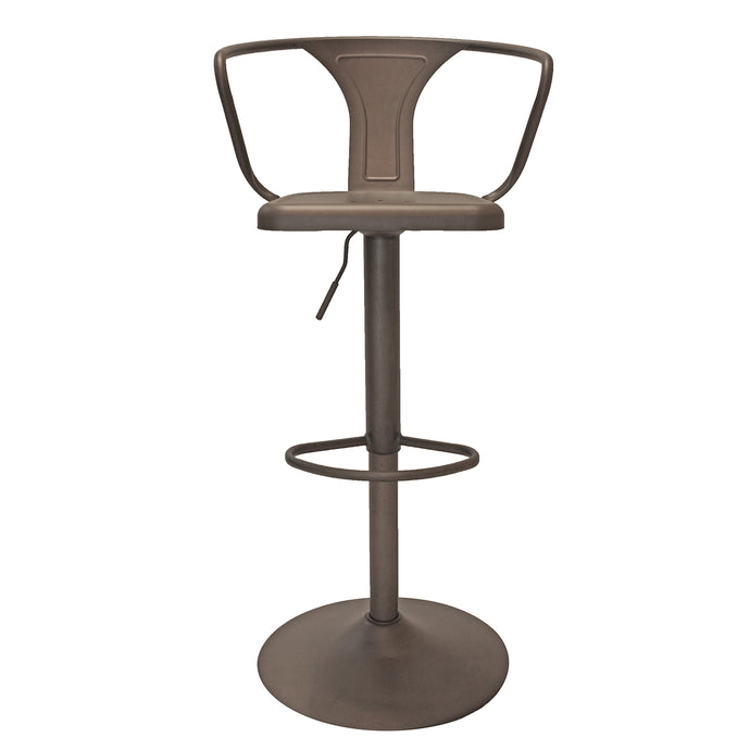 SADDLE ADJUSTABLE BARSTOOL