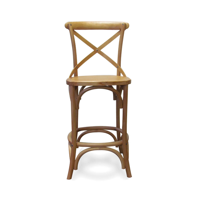 SALOON ISLAND COUNTER STOOL NATURAL (2 Per Box)