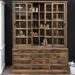 SALVAGED PINE DISPLAY CABINET