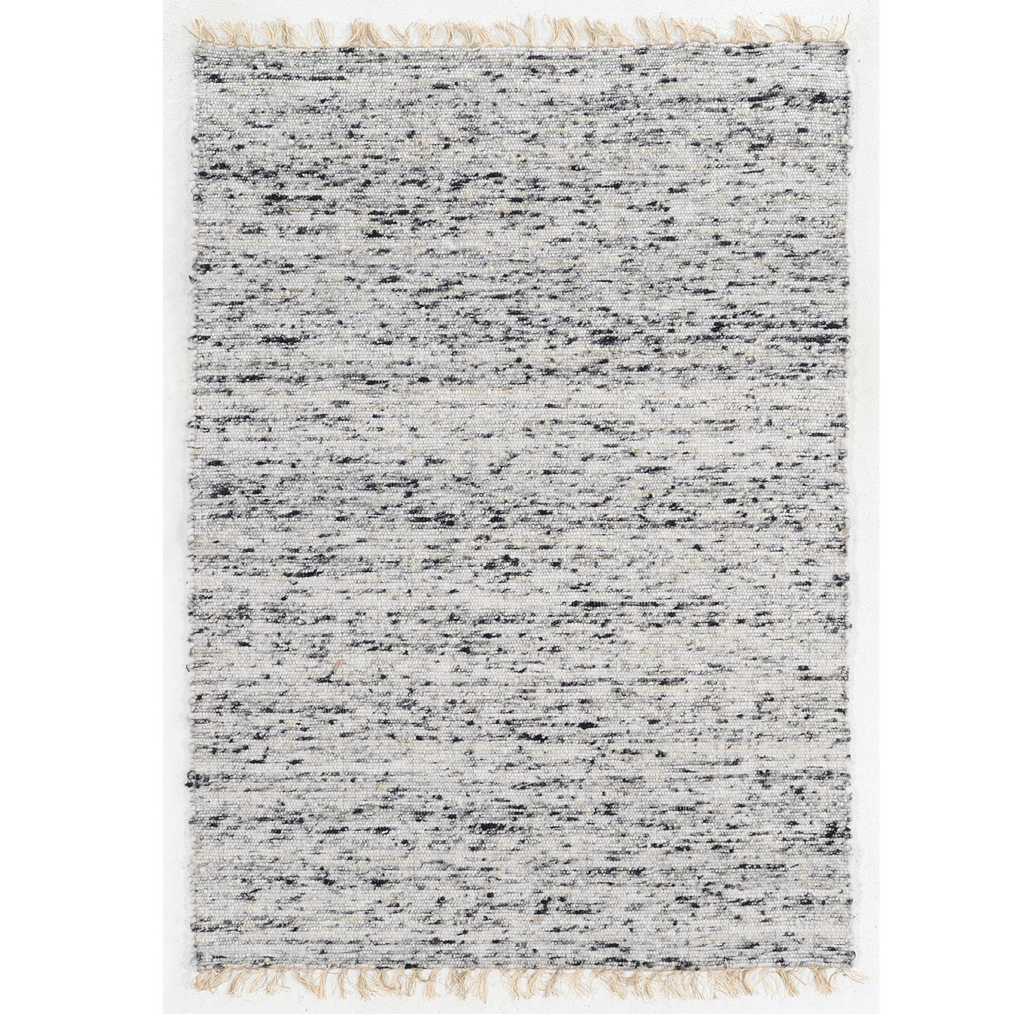 VERGINIA BERBER NATURAL & BLACK RUG RUG