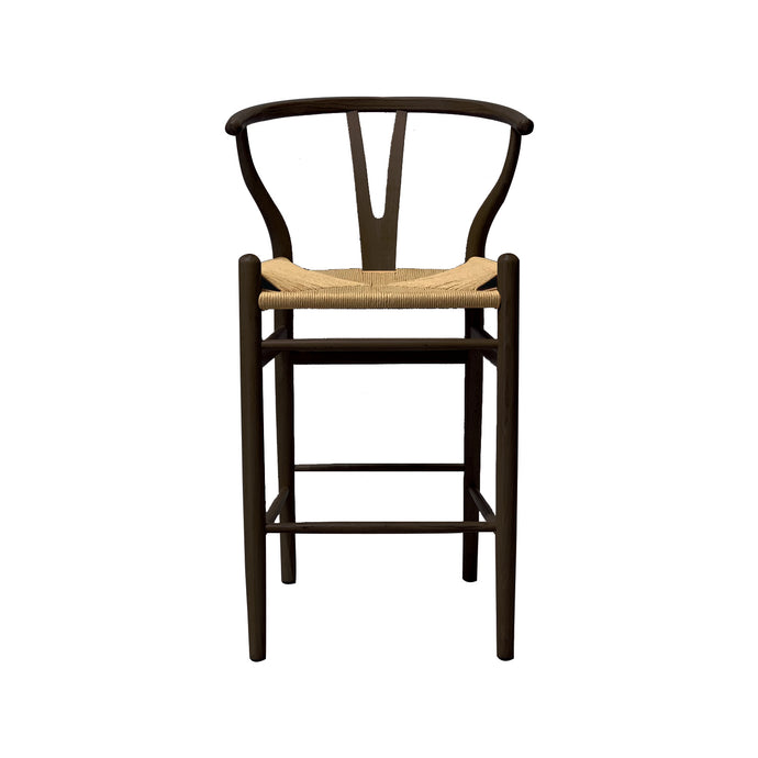 WISHBONE ISLAND COUNTER STOOL - BLACK
