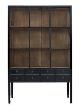 Load image into Gallery viewer, ZOE CABINET-NATURAL BLACK FRAME