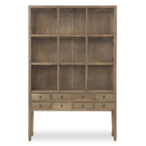 ZOE CABINET-NATURAL BLACK FRAME