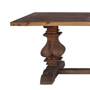 BALUSTRADE DINING TABLE-NATURAL