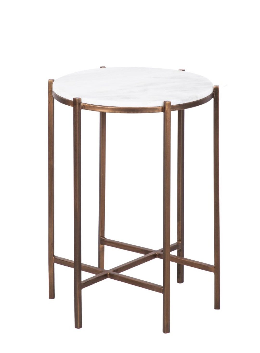 Roman Marble & Bronze End Table