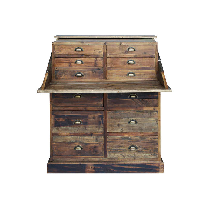 SALVAGED PINE SECRETARY CHEST