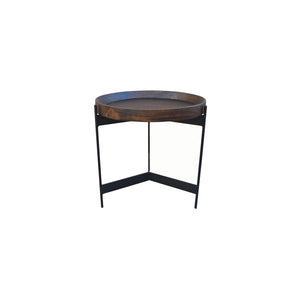 ROUND TRAY TOP SIDE TABLE