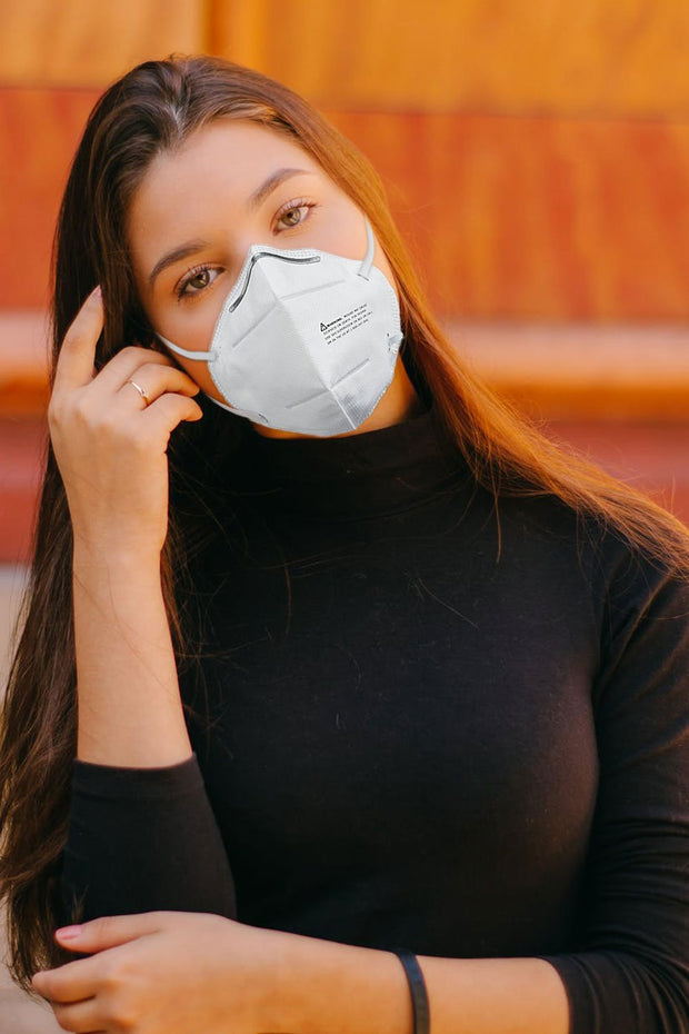 Woman wearing the kn95 anvanda mask