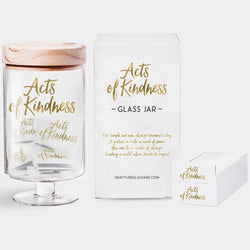 Gratitude Glass Jars - Acts of Kindness
