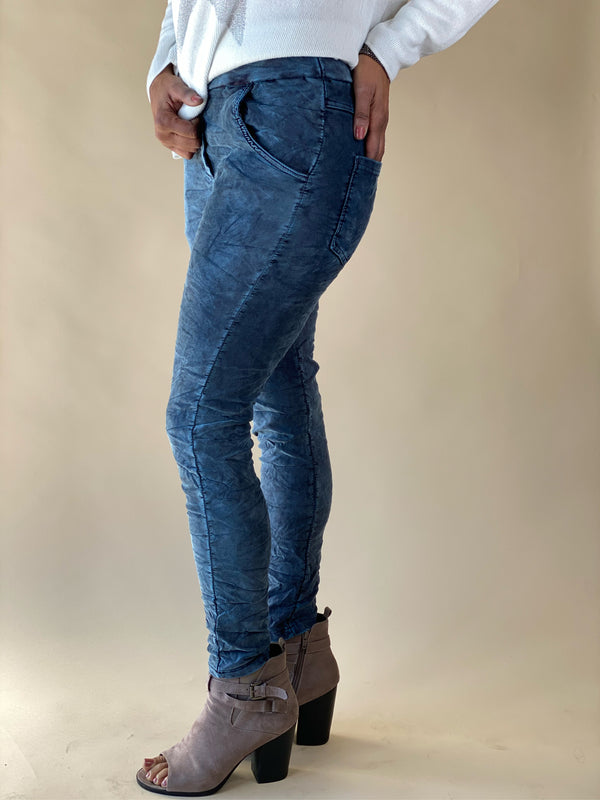 Antique Denim Mineral Wash Jogger