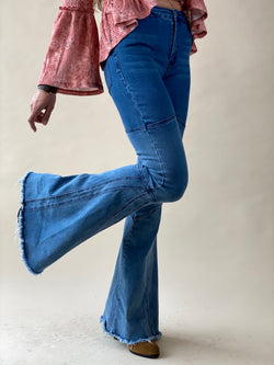 Ombre Bell Bottom Denim