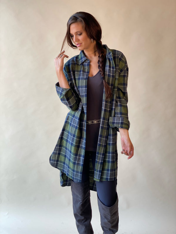 Plenty of Plaid Long Shirt - Green
