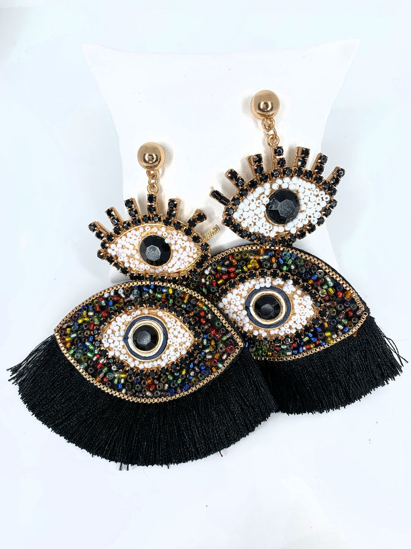 Double Evil Eye Tassel