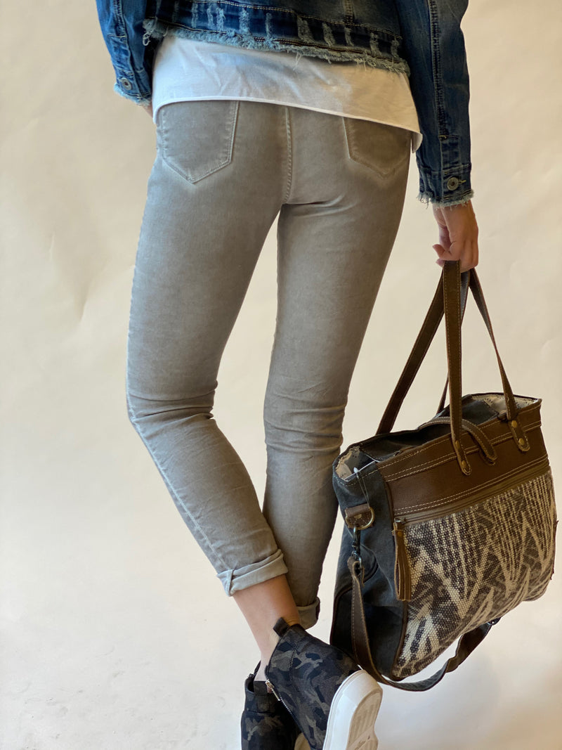 Taupe Mineral Washed Denim