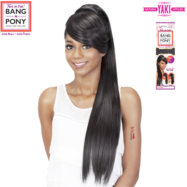 Vivica Fox Synthetic Drawstring Two In One Bang & Pony - BP-FENDY