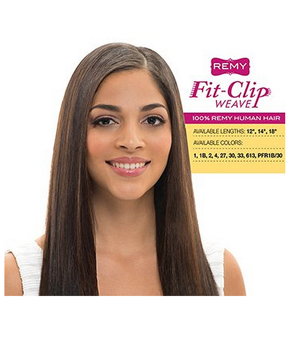 Janet Collection Remy Clip in Magic Perm Yaky Fit-Clip 8pcs