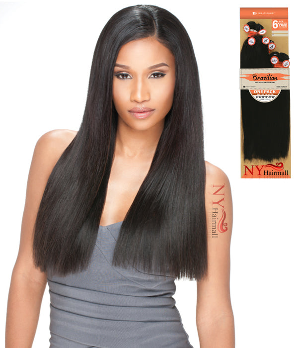 Sensationnel Brazilian Virgin Remi Bundle Hair Bare & Natural - Natural Yaki 1Pack