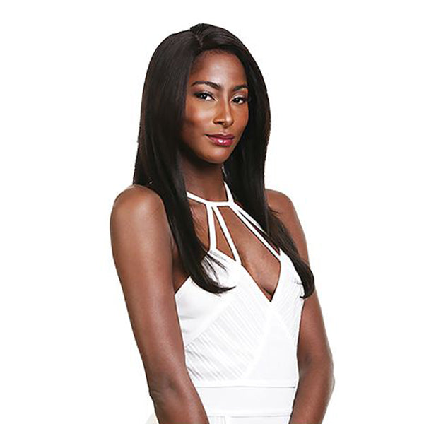 Ebin Brazilian Human 10A 360 L Part lace Front Wig - STRAIGHT 14""