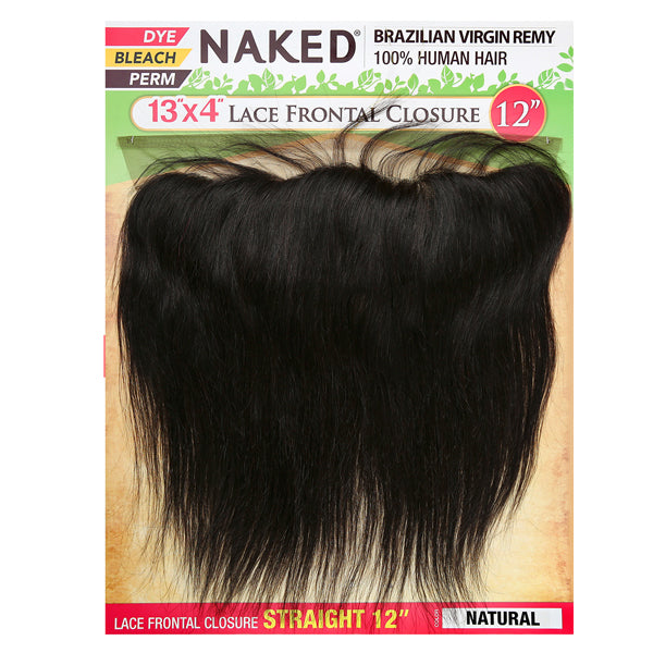 Saga Naked Brazilian Virgin Remy 13X4 Lace FRONTAL Closure - STRAIGHT 12""