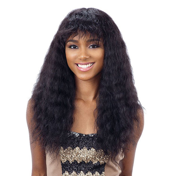 Naked Nature Brazilian Natural 100% Human Hair Wet & Wavy Full Wig - DEEP CURL