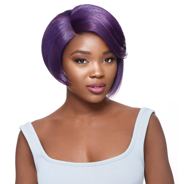 Outre Synthetic L-Part Swiss Lace Front Wig - PEPPER