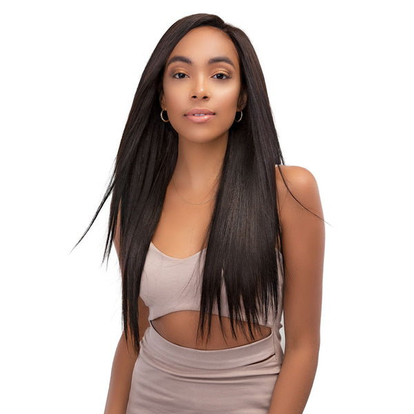 "Janet Collection Brazilian Bundle Closure Multipack Hair - STRAIGHT 3PCS 13""X4""TEMPLE LACE"