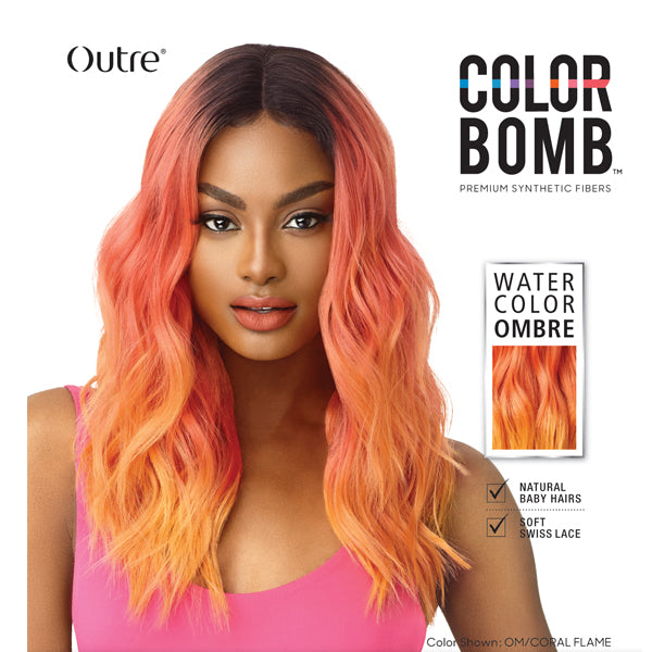Outre Color Bomb Synthetic Lace Front Wig - CELESTE