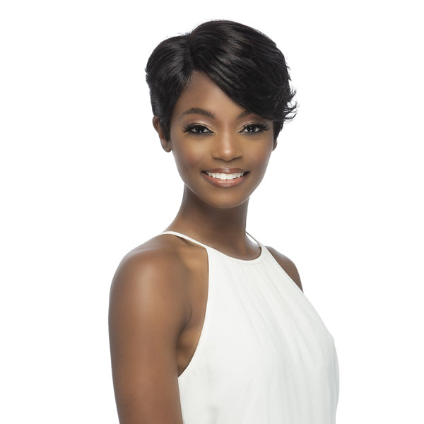 Vivica A Fox 100% Brazilian Natural Remi Human Hair Swiss Lace Front Wig - LIZZLE