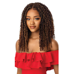 Outre X-Pression Twisted Up Lace Front Wig- KINKY BOHO PASSION WATERWAVE 18""