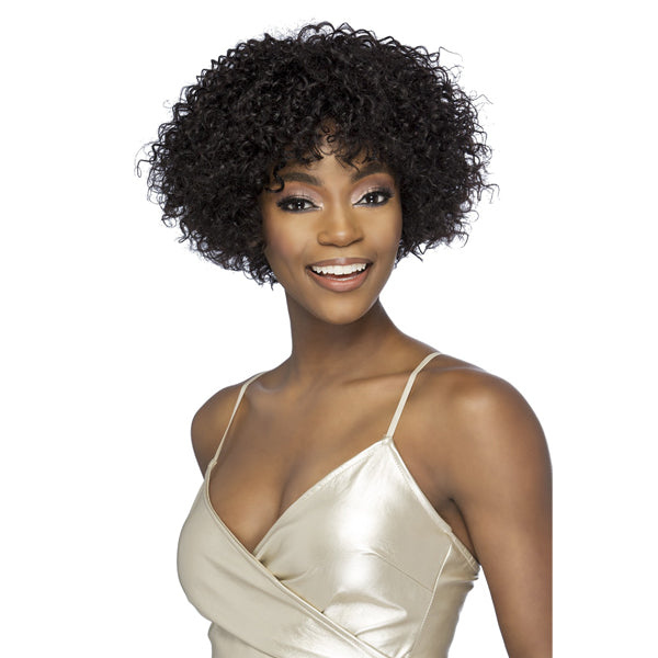 Vivica A Fox 100% Brazilian Natural Remi Human Hair Full Wig - VALERIE