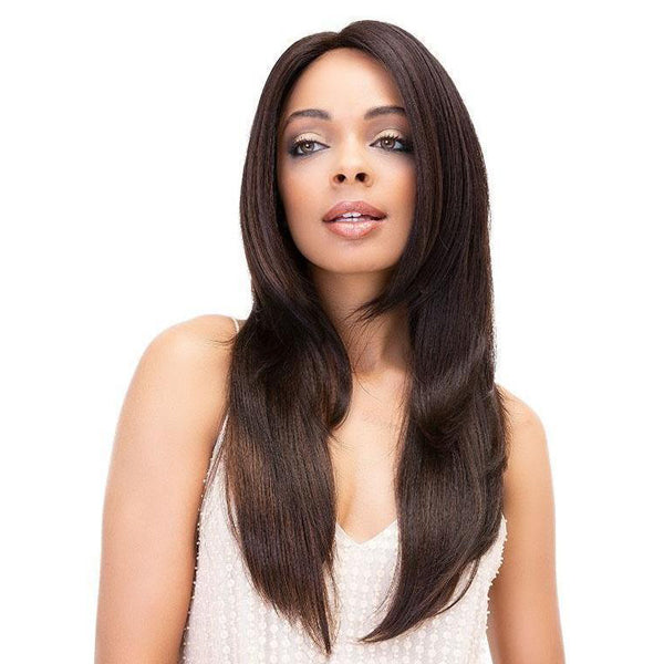 "Janet Collection 100% Virgin Remy Human Hair Deep Part Lace Front Wig - STRAIGHT WIG 20""24"""