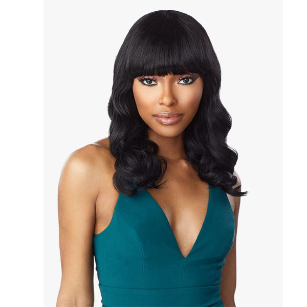 Sensationnel 10A Unprocessed Virgin Human Full Wig - BODY WAVE 16""