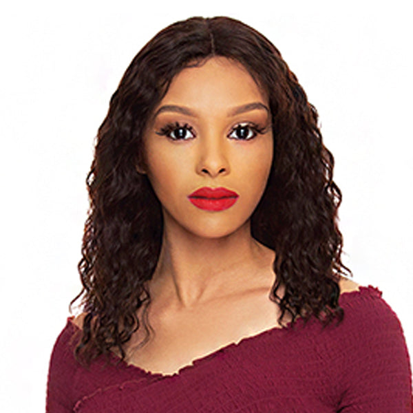 The Wig Black Pink Pure Brazilian Virgin Remy Hair Lace Front Wig - HBL WL 18""