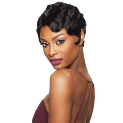 Outre Velvet Remi 100% Human Hair L-Part Swiss Lace Front Wig - FINGER WAVE