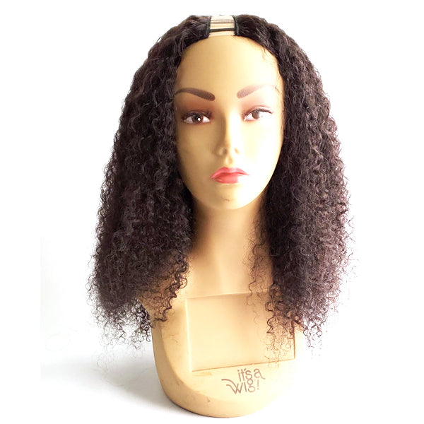"Awesome 100% Human Hair Slim U Part - SLIM U-W&W JERRY CURL 16""22"""