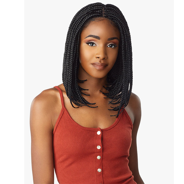 Sensationnel Cloud9 4X4 Swiss Lace Wig - BOX BRAID BOB