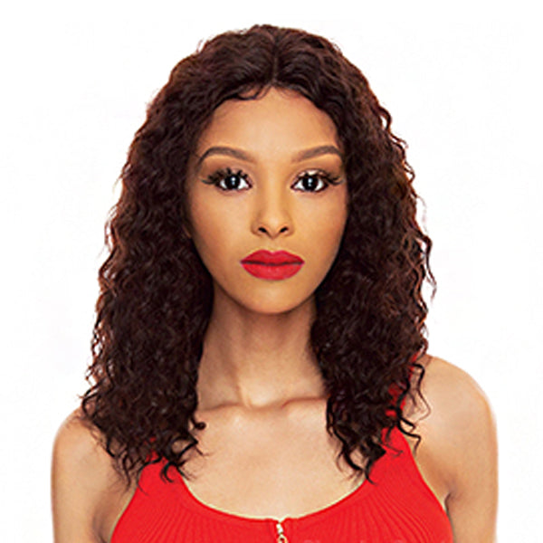 The Wig Black Pink Pure Brazilian Virgin Remy Hair Lace Front Wig - HBL WC 18""