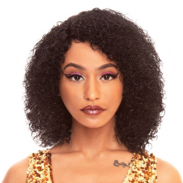 The Wig Black Pink WET & WAVY  100% Brazilian Remy Full Wig - HBL WET N BEACH CURL