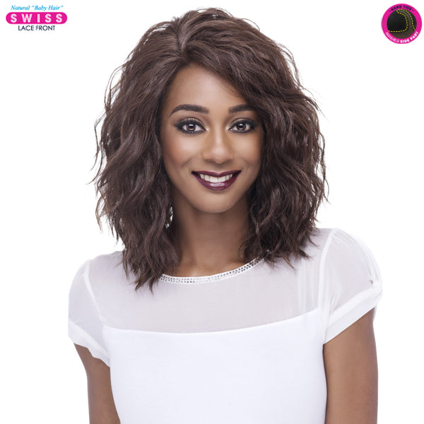 Vivica A Fox Deep Swiss Invisible Part Lace Front Wig - FINN