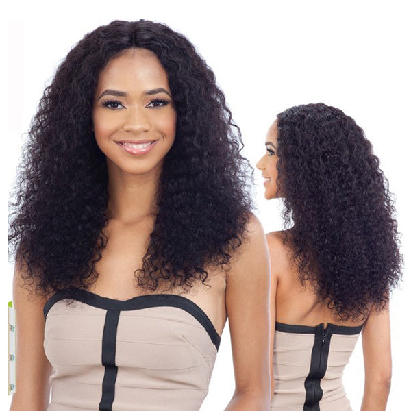 Naked Nature Brazilian Natural 100% Human Hair Wet & Wavy Lace Part Wig - DEEP WAVE