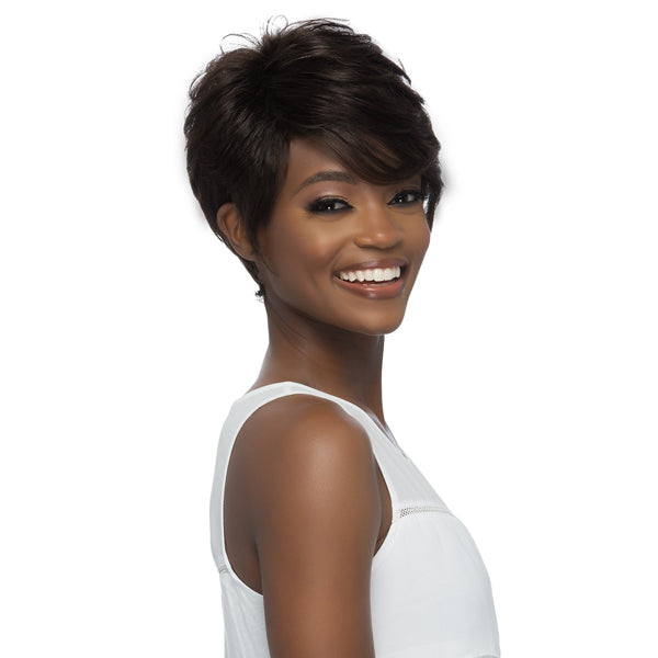 Vivica A Fox 100% Brazilian Natural Remi Human Hair Full Wig - LUCAS