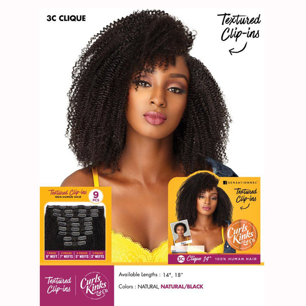 Sensationnel Curls Kinks & co Textured Clip ins - 3C CLIQUE