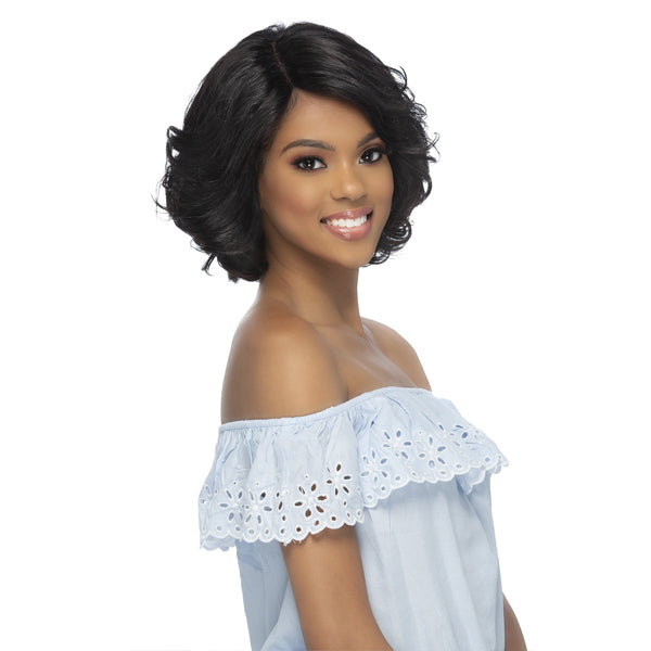 Vivica A Fox 100% Brazilian Natural Remi Human Hair Swiss Lace Front Wig - PLUMERIA