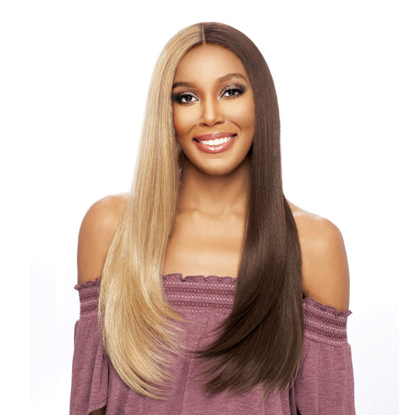 Vanessa Synthetic Tops Middle Part Designer Lace Front Wig - TWDN TWOSY